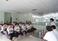 Lãnh đạo LĐBĐ TPHCM động viên CLB Thái Sơn Nam trước giờ dự vòng loại cúp các CLB châu Á