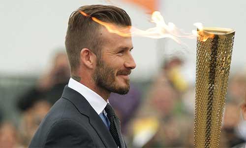 Beckham tham gia rước đuốc Olympic London 2012
