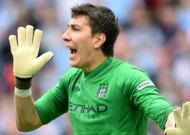 Manchester City manager Mancini confirms Hart won't start FA Cup final