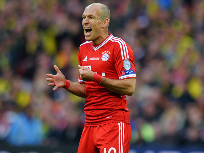 That was much to the frustration of Arjen Robben.