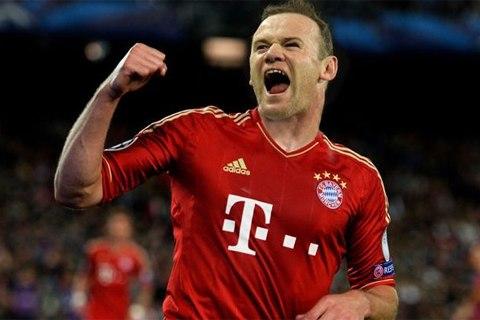 Rooney sẽ khoác áo Bayern Munich từ mùa sau, như bức ảnh ghép này?