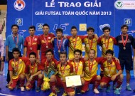 End of 2013 national Futsal tournament: Thai Son Nam successfully defended their title at the National Futsal Championship.