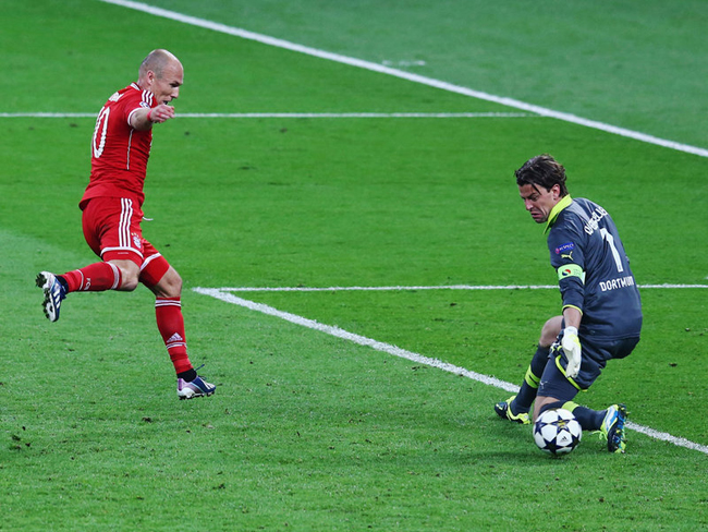 There was late drama as Robben netted the winner for Bayern in the 89th minute.