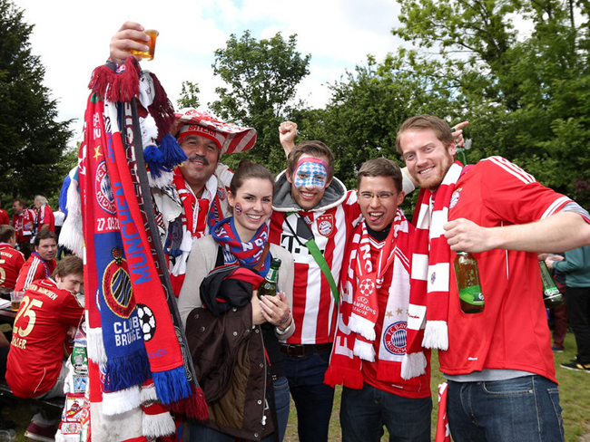 Bayern supporters also took time to enjoy London