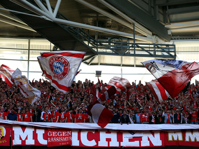 The Bayern fans were also in fine voice.