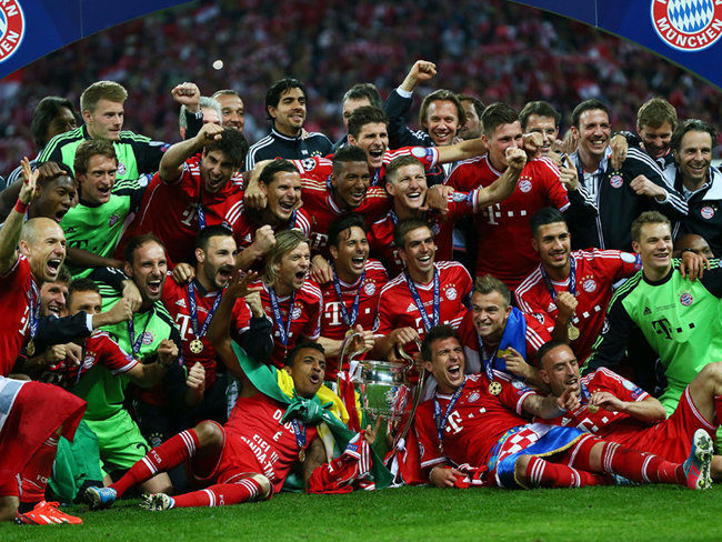 Bayern Munich won the Champions League with a 2-1 victory over Borussia Dortmund in the final at Wembley.