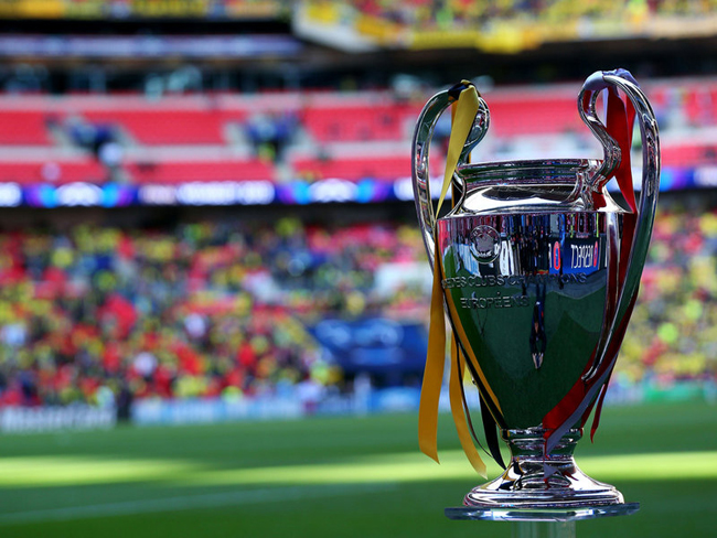 The Champions League trophy was the prize on offer.