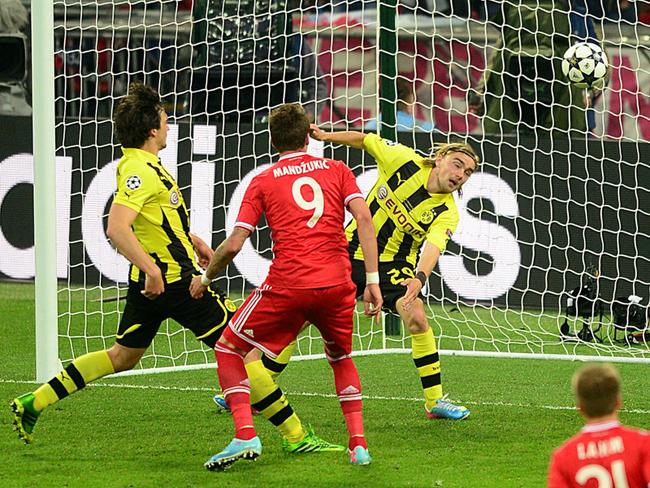 Mario Mandzukic scored from close-range to put Bayern ahead in the 60th minute.