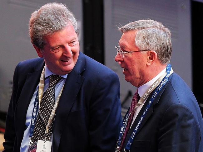 Roy Hodgson and Sir Alex Ferguson were both at Wembley.