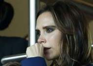 Victoria Beckham chokes back tears as she watches husband David play his final football match