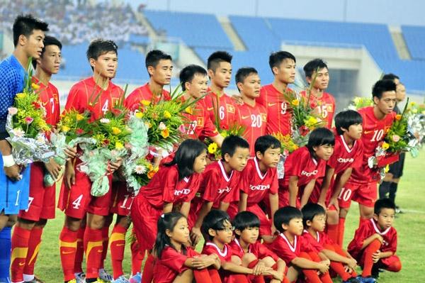 Đội hình xuất phát của U23 VN. Ảnh: SN