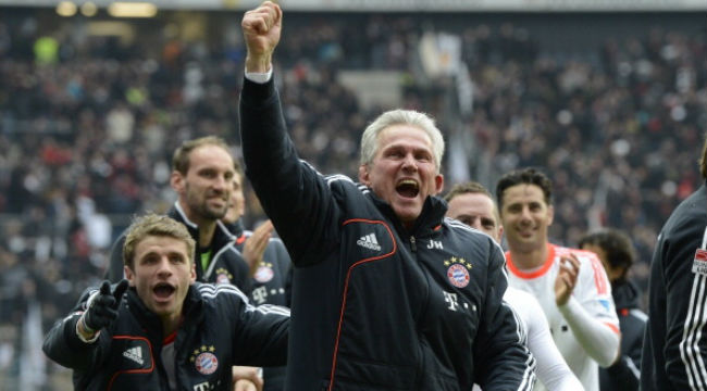 Jupp Heynckes led Bayern Munich to the treble of Bundesliga, German Cup and Champions League last season. Photograph: Action Press/Rex Features