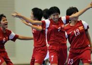 Đội tuyển nữ futsal VN thắng đội nữ Honkong (Trung Quốc) 2-1