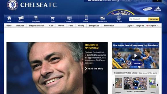 Trang chủ Chelsea thông báo bổ nhiệm Mourinho