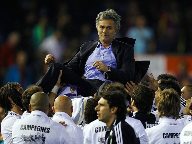 Mourinho departed Italy for Real Madrid after that success, and his team won the Copa Del Rey in his first season in charge