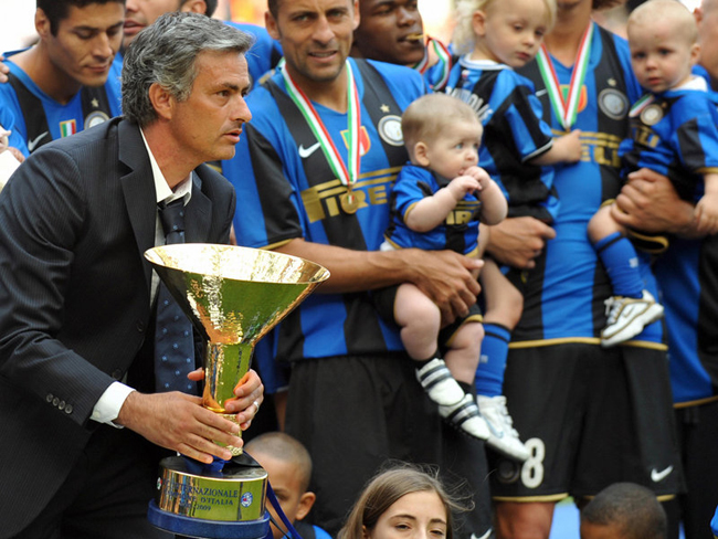 Mourinho was appointed manager of Inter Milan in 2008, and the club finished top of Serie A in his first season in charge