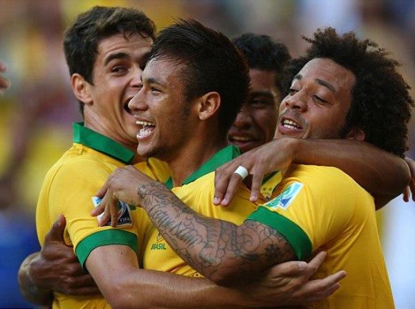 """Neymar tiếp tục thể hiện tốt vai trò """"thủ lĩnh"""" của Brazil"""
