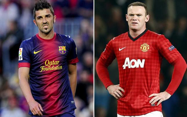 Villa sang M.U và Rooney sang Barca? - Ảnh: SPORT