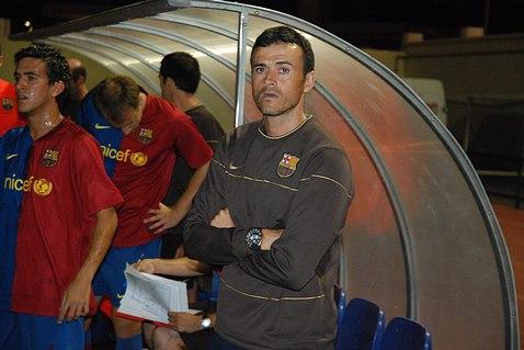 Enrique thời còn dẫn dắt Barca B.