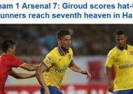Báo chí quốc tế nói gì về trận giao hữu ĐTVN và Arsenal?