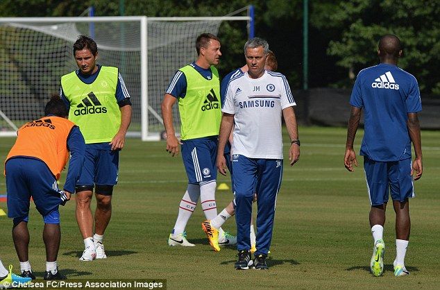Welcome back, Jose: Frank Lampard and John Terry will be pleased to see the return of Mourinho to Chelsea