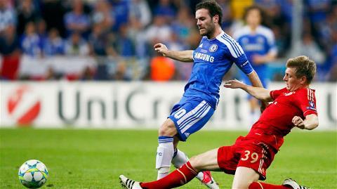 Bayern (áo đỏ) hiện bị đánh giá thấp hơn so với Chelsea