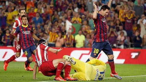 Messi, Neymar đã không thể hiện được bộ mặt thuyết phục trong các trận đấu với Atletico