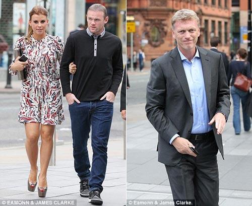 Rooney cùng vợ dự tiệc do HLV David Moyes tổ chức