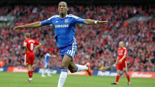 Năm 2012, năm cuối cùng thi đấu cho Chelsea, Drogba một lần nữa ghi bàn trong trận chung kết FA Cup. Liverpool chịu thua với tỷ số 1-2
