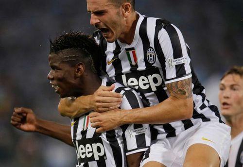 Paul Pogba ghi bàn mở tỷ số cho Juventus.