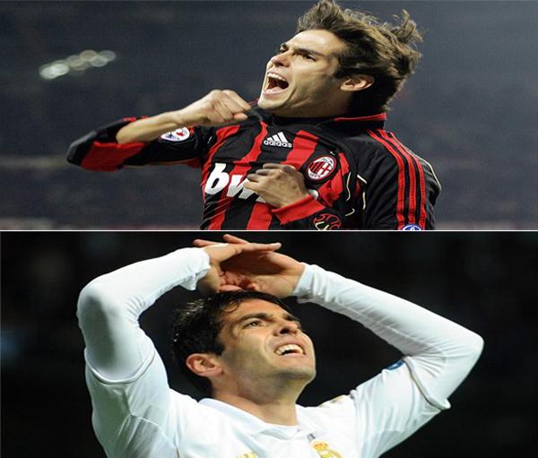 """Tháng 3/2009: """"Kaka không phải để bán, với bất cứ giá nào"""" là tuyên bố của Phó chủ tịch Milan, Adriano Galliani. Nhưng chỉ ba ngày sau khi kỳ chuyển nhượng mùa hè năm đó mở ra, Real Madrid thông báo đã thành công trong việc chiêu mộ ngôi sao người Brazil, với giá 56 triệu bảng."""
