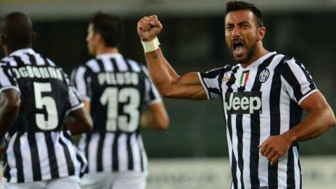 Fabio Quagliarella ghi bàn gỡ hòa cho Juventus