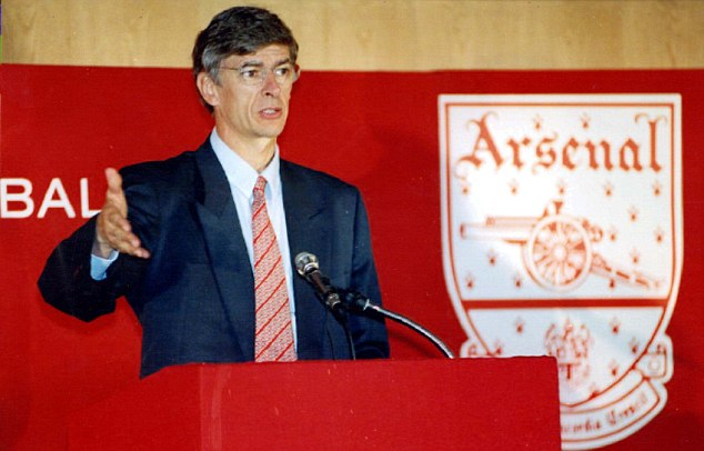 Who are you? The unknown Wenger just after taking over at Arsenal in 1998