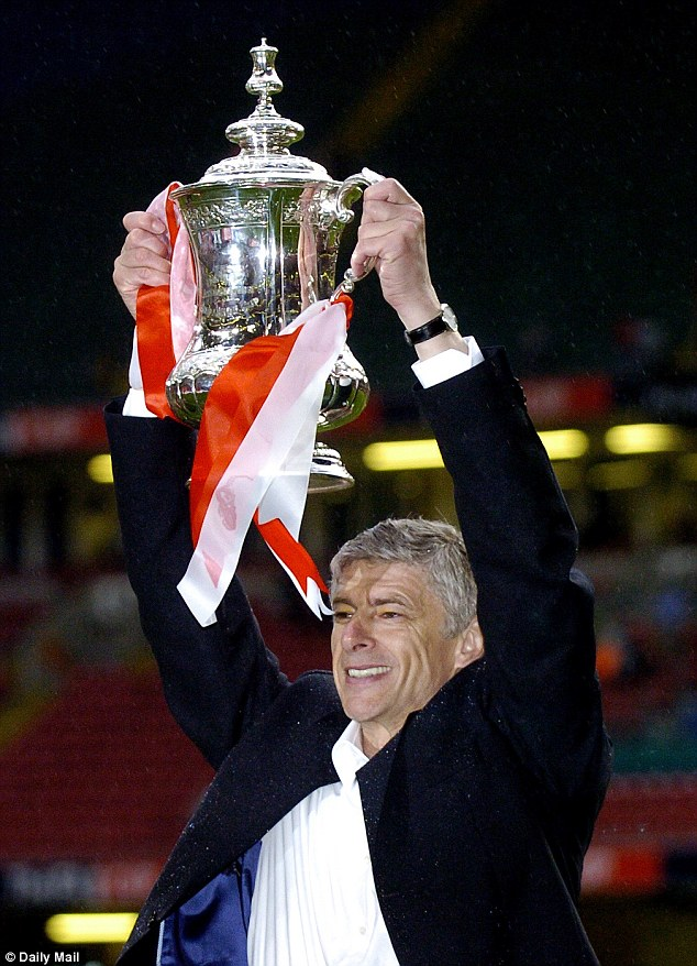 Trophyless: Arsenal's last silverware was the 2005 FA Cup won at the Millennium Stadium