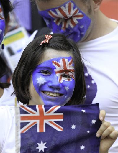 CĐV của đội tuyển Australia lặn lội sang Brazil cổ vũ đội nhà thi đấu giao hữu.