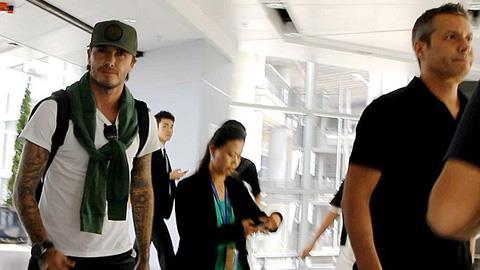 David Beckham tới Mỹ để hoàn tất việc mua đội bóng tại MLS