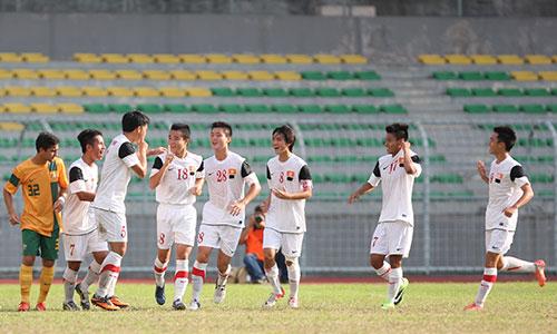 Các cầu thủ U19 thi đấu thăng hoa tại vòng loại giải vô địch U19 châu Á với ba trận toàn thắng. Ảnh: Đức Đồng.