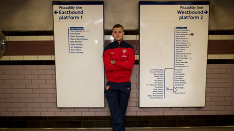 Jack Wilshere cũng được đặt tên cho một ga tàu điện ngầm ở London