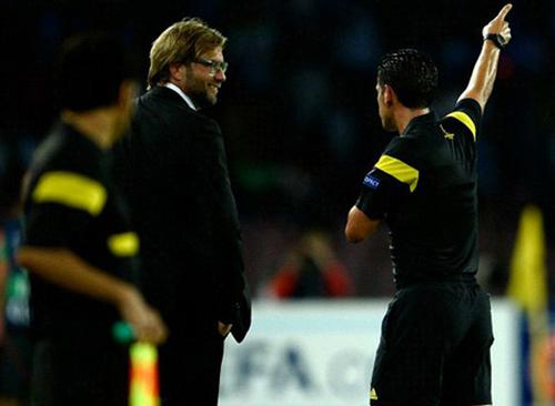 Phản ứng trong trận thua Napoli đã gây phiền phức nhiều hơn dự đoán cho Klopp.