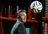 David Beckham demonstrates his football skills as he appears on inspirational TV show in China