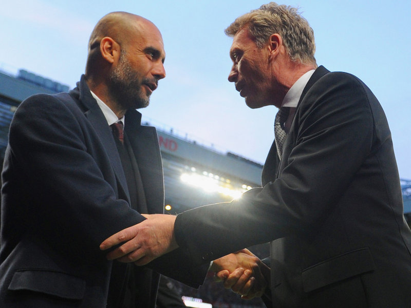 Moyes met Pep Guardiola of Bayern Munich in the Champions League quarter finals - but the holders proved too much over two legs