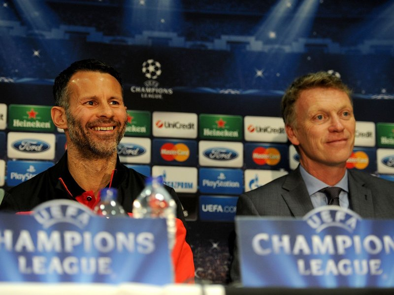 David Moyes and Ryan Giggs are all smiles - but there were reports of issues between the two