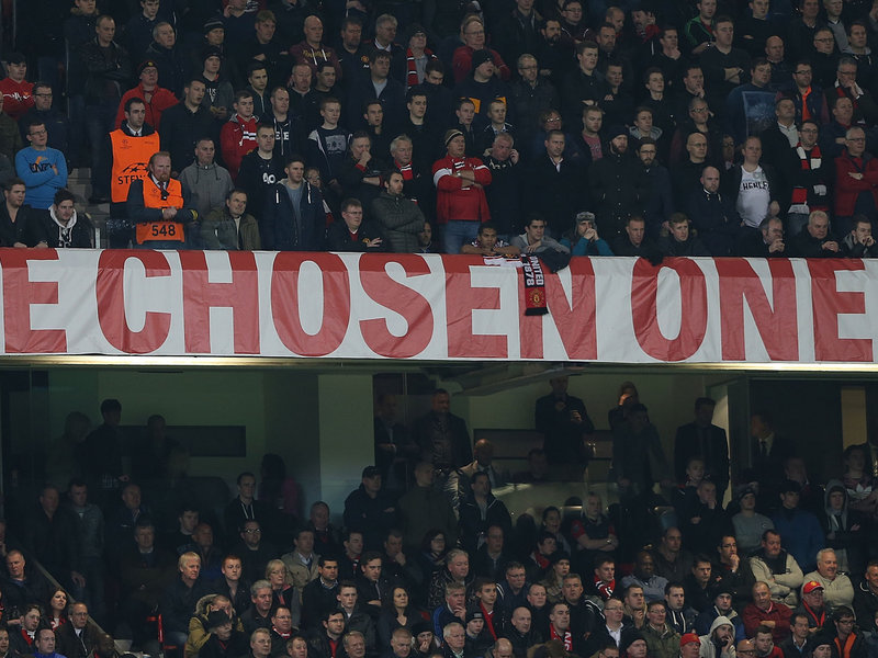 The Old Trafford banner provoked reaction throughout Moyes' tenure