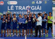 Thanh My Loi school to win the champion title of 2015- 2016 Futsal tournament  for Secondary schools Thai Son Nam Cup