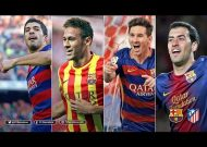 Barça players score on Atlético, from near and from afar