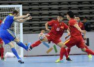 Đội tuyển futsal Việt Nam gây ấn tượng trước Ukraine