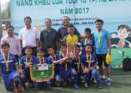Quận 10 vô địch giải năng khiếu bóng đá lứa tuổi 10 TPHCM năm 2017