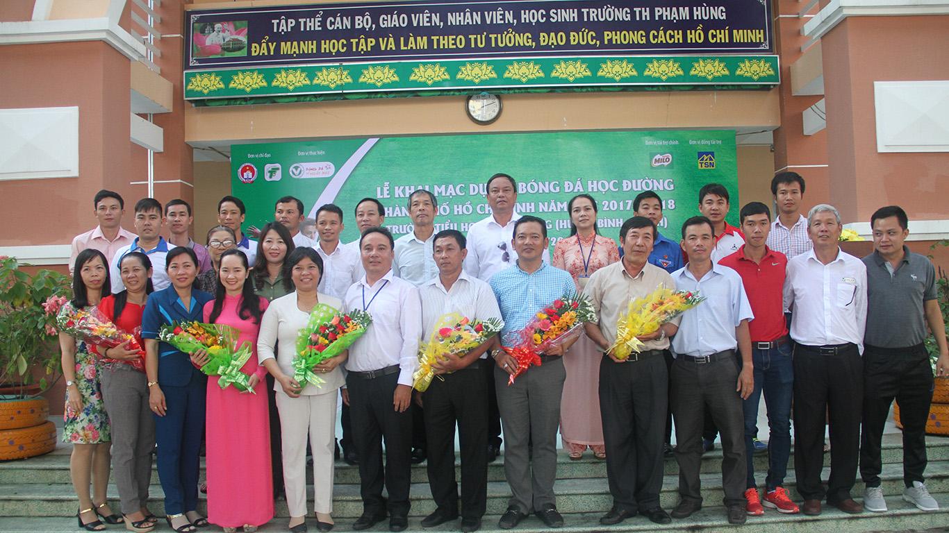 Khai mạc chương trình bóng đá học đường TPHCM, năm học 2017 - 2018, huyện Bình Chánh