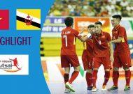 Clip tuyển futsal Việt Nam đánh bại Brunei vào bán kết