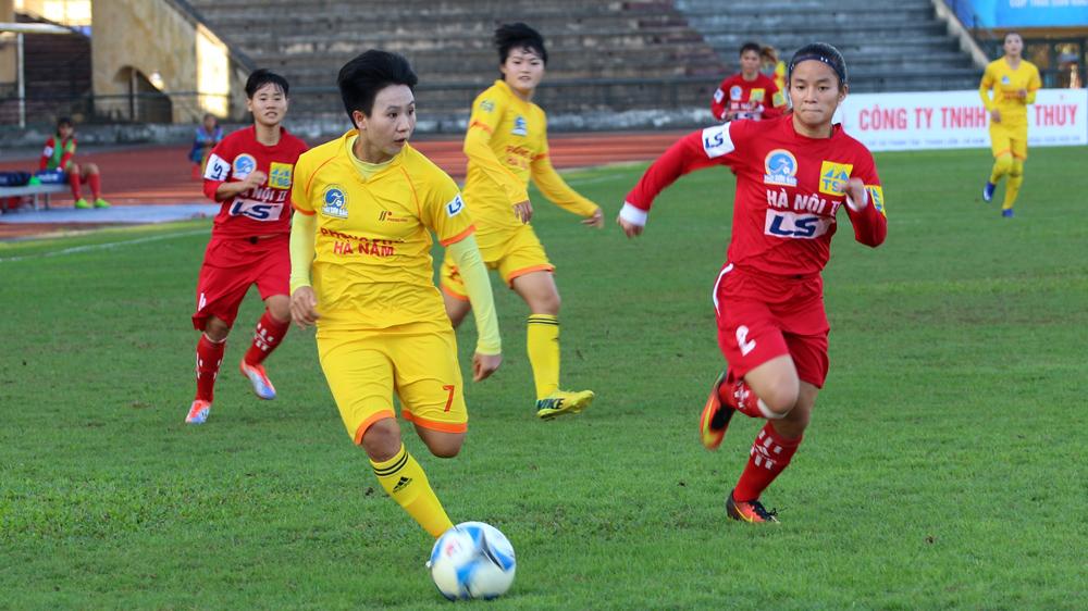 Phong Phú Hà Nam áp sát ngôi đầu tại giải bóng đá nữ VĐQG – cúp Thái Sơn Bắc 2017
